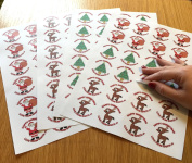 7.3mFrom Santa' Stickers for Stocking Fillers or Presents under the tree - 3 Mixed Designs