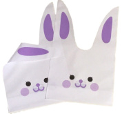 Nacpy Candy Bags Bunny Shape Treat Bags Rabbit Ear Plastic Biscuit Packaging Bag Cookie Bags For Gift Wedding Favours Easter Christmas Decoration Purple