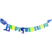 KUMEED Dinosaur Happy Birthday Banner Party Decorations for Dinosaur Party Supplies Favours