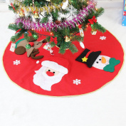 THEE Santa Claus Velvet Christmas Tree Skirts