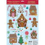 Amscan International 241915 Window Gingerbread House Sticker