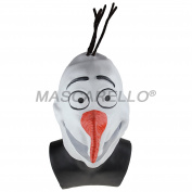 MASCARELLO®Snowman Full head Mask Adult Christmas Accessory-Small size