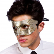 Rome Eyemask Mens Masquerade Masked Ball Fancy Dress Accessory