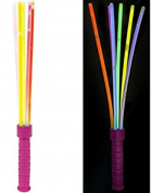 6 Glow Sticks Wand Light Up DJ Party Flashing Kids Children Dark Night Concert Prom Favours