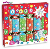 WOW 15cm x 23cm Bingo Lingo Christmas Crackers Family Fun Party Game