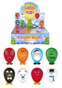 12 x Assorted Christmas Balloon Heads ~ Each pack contains