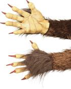 Smiffy's 47077 Beast/ Krampus Demon Gloves, Brown, One Size