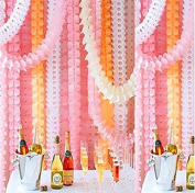 Reusable Party Streamers, MerryNine Four-Leaf Clover Paper Flower Garland for Party, Wedding Decoration, 11.81 Feet/3.6M Each, Pack of 6