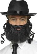 Smiffy's 44690 Rabbi Kit, Grey, One Size