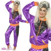 Smiffy's 43080L Retro Shell Suit Ladies Costume