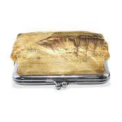 COOSUN Adventure Stories BoatLeather Coin Purse snap Closure Clutch Coin Wallet