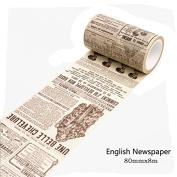 HENGSONG Vintage Washi Masking Tape DIY Decorative Scrapbooking Adhesive Tape Label Sticker Stationery Supplies