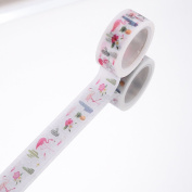 WRITIME 1PC 15mm X 5m Ice Cream Washi Tape Printed Greetings For You Adhesive Tape Cute Animal Scrapbooking Decorative Paper Tape,S,P20