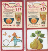 Decorations 3D Adhesive for Decorating Glass, Ceramic, Paper, cardboard, plastic Deco Stickers
