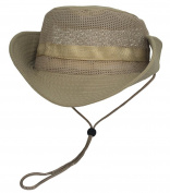 Smile YKK Unisex Camouflage Wide Brim Outdoor Sport Sun Fishing Net Hat Dome Mesh Cap