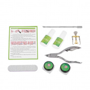 Anself 8pcs Ingrown Nail Correction Tools Toenail Fix Treatment Straightener Clipper Nail Pusher Nail Patch Foot Care Kit
