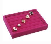MBH Hot Pink Velvet 5 Rows Ring Organiser Display Case
