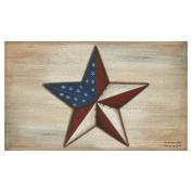 Toland Home Garden American Star Doormat - Polyester / Rubber