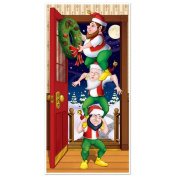 The Holiday Aisle Christmas Elves Door Cover