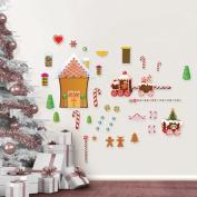 Mona Melisa Designs Winter Holidays Gingerbread House Wall Decal Set