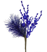 33cm Sparkling Cobalt Blue Glittered Ball and Pine Christmas Spray