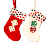 15cm Red Casino Gambling Dice Mini Christmas Stocking