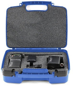 Hard Storage Carrying Case For Midland CB-Way Radio - Stores Midland 75-822 40 Channel CB-Way Radio TM And Accessories, Safely - Blue