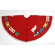 Arcadia Home Toy Train Christmas Tree Skirt
