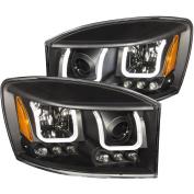 Anzo Usa 111314 Anz111314 06-08 Ram 15/25/3500 Projector Headlights W/ U-Bar Black Clear