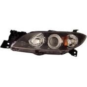 Anzo USA 04-07 Mazda 3 Projector Halo Black Clear Amber, CCFL Headlights