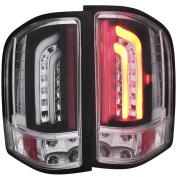 Anzo USA 07-13 Silverado 1500 and 2500/3500Hd LED Tail Lights, Black Clear G2
