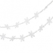 1.8m Glittered White Snowflake Novelty Christmas Garland - Unlit