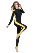 Fortuning's JDS® Girls & ladies UPF 50+ long sleeve swimwear full body swimsuit for summer holiday with bra pads