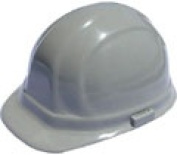 Omega II cap style hard hats with pin lock suspensions- Grey