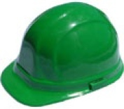 Omega II cap style hard hats with pin lock suspensions- Green