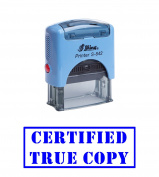 Blue - CERTIFIED TRUE COPY Office Self-Inking Rubber Stamp Shiny Office stationery Stamp