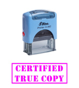 Violet - CERTIFIED TRUE COPY Office Self-Inking Rubber Stamp Shiny Office stationery Stamp