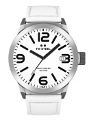 TW Steel Marc COBLEN Edition with Leather Strap 50 MM White/White TWMC43