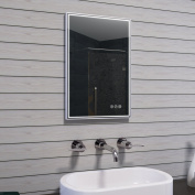 Lux-Aqua MAU17 Mirror, Metal, Aluminium 60 x 40 x 3.2 cm
