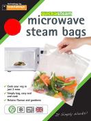 Toastabags Microwave Steam Bags, Transparent, Pack of 100, Medium