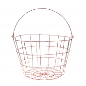 Saveur et Degustation ka1495 Fruit Basket Metal Copper 24.2 x 24.2 x 27.40 cm