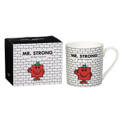 Mr Men and Little Miss Strong Mug, Bone China, White, 9.2 x 11.5 x 9.8 cm