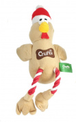 Crufts Squeaky Christmas Turkey Pet Dog Toy