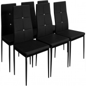 6 Dining Chairs Chair High-Back Upholstered Chairs Dining Set Dining Chair Colour Choice Black or White