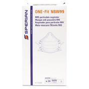 ONE-Fit N95 Single-Use Molded-Cup Particulate Respirator, White, 20/Box