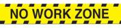 Retirement No Work Zone Yellow Caution Tape Halloween Decoration 7.6cm x 6.1m