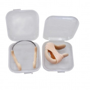 Visork Rubber Swimming Nose Clip Waterproof Nose Protector Water Sports Tool With Storage Box Beige