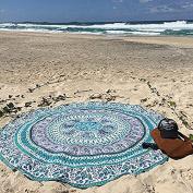QHGstore Round Totem Pattern Beach Towel Yoga Mat Tippet Chiffon Tablecloth