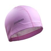 Poqswim Adult Size Lycra Swim Cap With PU Coat Swim Hat Can Fit Long Hair Swim Cap