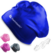 Swimtastic - Long Hair Swim Cap + Ear Plugs - Specially Designed for Swimmers with Long, Thick, or Curly Hair